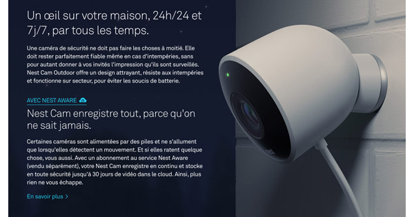 Avis et Test Nest Cam Outdoor